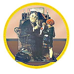Doctor and the Doll Norman Rockwell March 1929 Saturday Evening Post family physician (Image1)