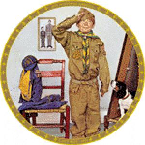 Can't Wait 1972 Norman Rockwell Boy Cub Scout BSA Saturday Evening Post (Image1)