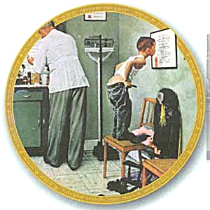Before The Shot Norman Rockwell Saturday Evening Post March 15, 1958 Doctor Patient