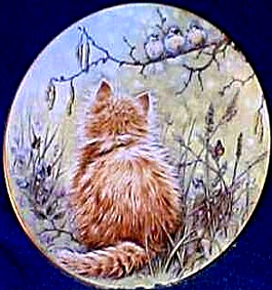 Kitten Classics Bird Watcher BirdWatcher Cats Pam Cooper Royal Worcester Crown Ware (Image1)