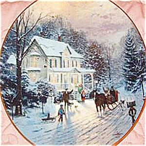 SLEIGHRIDE Luminist artist Thomas Kinkade #1 Home Holidays 84-K41-126.1 Christmas Bra (Image1)