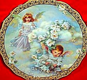 HEAVENLY HIDEAWAY Sandra Kuck Gardens Of Innocence 84-R60-54.1 Bradford Exchange Ange (Image1)