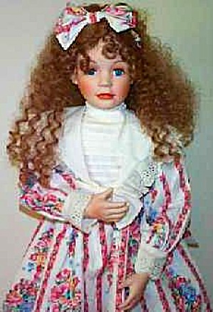 1992 Amber 29 Inch Laura Cobabe Curly Redhead Red-headed Doll Hamilton Ashton Drake