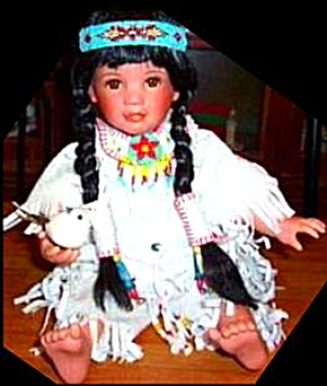 Laura Cobabe Snowbird Kid Indian Native American Girl 1994 White Dove Bird L 1994 Art