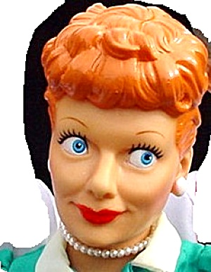 88 I Love Lucy Vinyl Presents Hamilton 14in P3500 1of 4 Lucille Ball 50's 60's Boomer
