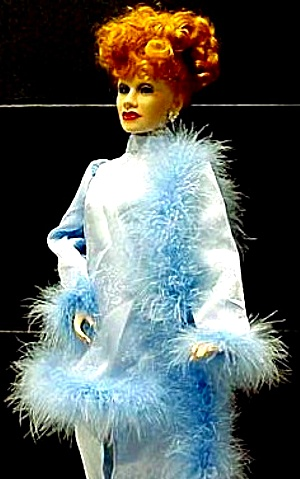 I Love Lucy #2 Hollywood WALK OF FAME BLUE SATIN  Dress Doll Corliss Scott Feather Bo (Image1)