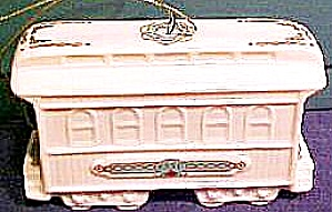 1990 Yuletide Express Train Passenger Car 3-d Ivory China 24k Gold Lenox Ornament '90