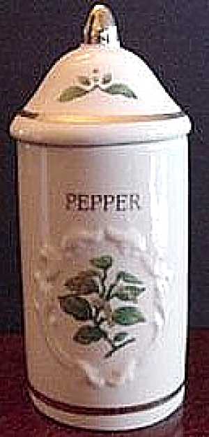 SPICE GARDEN GIFTWARE LENOX CHINA PEPPER Spice Jar FLORAL SPICE BOUQUETS (Image1)