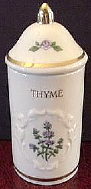 Spice Garden Giftware Lenox China Thyme Spice Jar Floral Spice Bouquets