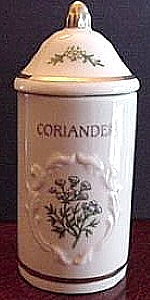 SPICE GARDEN GIFTWARE LENOX CHINA CORIANDER Spice Jar FLORAL SPICE BOUQUETS (Image1)