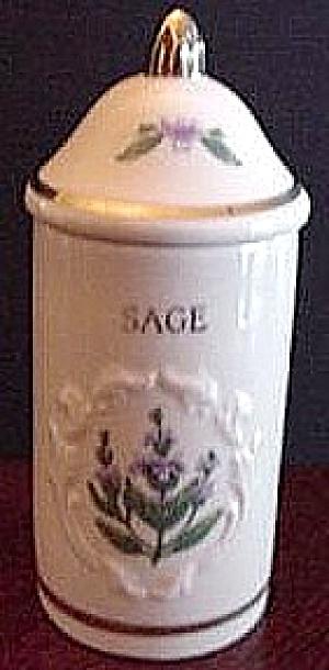 SPICE GARDEN GIFTWARE LENOX CHINA SAGE Spice Jar FLORAL SPICE BOUQUETS (Image1)