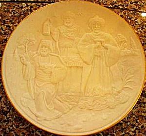 THE WISE MEN LENOX 1994 CHRISTMAS NATIVITY VIGNETTES Plate 3 Three Kings Magi Wisemen (Image1)
