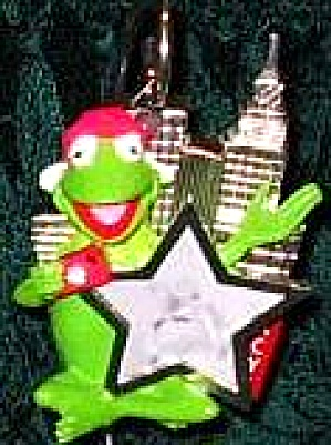 KERMIT THE FROG PHOTOGRAPHER  Frog Tographer MACY GLASS BALL Lenox ornament Muppets (Image1)