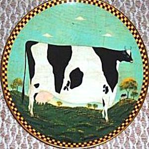 Warren Kimble Barnyard Animals Collection HOLSTEIN COW LENOX L.E. 1994 Japan France (Image1)