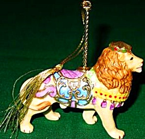 Lenox Royal Lion Carousel Animals Christmas Porcelain Ornament '89 24k Gold #2 Animal