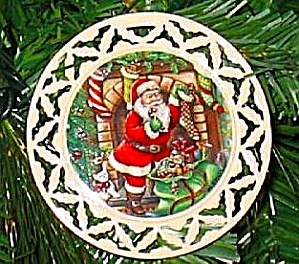 Lenox Santa Portrait Ornament #5 Dressed All In Fur 'twas The Night Before Christmas