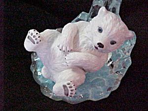 PLAYFUL PRINCE LITTLE FRIENDS OF THE ARCTIC Blue Eyes Polar Bear Artist M. Adams (Image1)