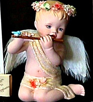 Love Is Happiness Little Messengers Angel Parkins Mib Coa Flute Player Flautist