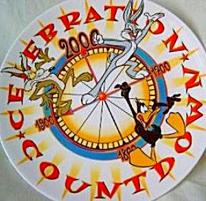 Wedgwood Looney Tunes Celebration Countdown Millennium Wile E.coyote Daffy Duck Bugs