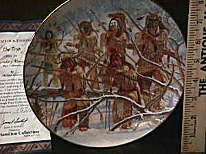 THE TRAP LEGENDARY WARRIORS M. GENTRY Hamilton Collection Indian Native American 1996 (Image1)