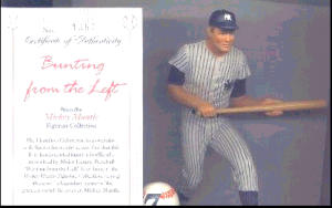 Mickey Mantle BUNTING FROM THE LEFT Hamilton SI Sports Impression Series MLB NUMBER 7 (Image1)