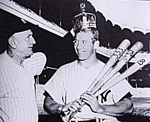 MICKEY MANTLE 1956 TRIPLE CROWN  WINNER SPORTS IMPRESSIONS HAMILTON N Y Yankees #7 97 (Image1)