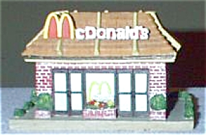 Dept.56-like Mcdonald's Restaurant + Figures Group II Communications Hales Corners WI (Image1)