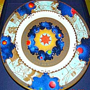 ROYAL WORCESTER 12 in To Celebrate Millenium Collectors plate 2000AD Presentation Box (Image1)