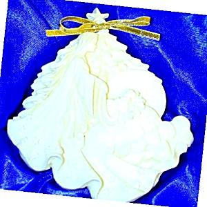 1992 Roman Millenium #1 Silent Night Ornament MIB Lucchesi Mary Jean Dorcy Silhouette (Image1)