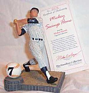MICKEY SWINGS HOME Mantle Hamilton SI Sports Impressions Series MLB YANKEE STADIUM 96 (Image1)