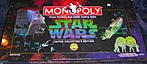 STAR WARS COLLECTORS EDITION #40786 MONOPOLY PARKER BROTHERS MINT-SEALED HASBRO 1996 (Image1)