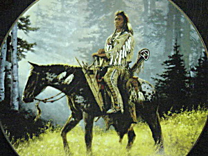 PEACEMAKER Last In MYSTIC WARRIORS INDIAN & HORSE SERIES Artist CHUCK REN Peace Maker (Image1)