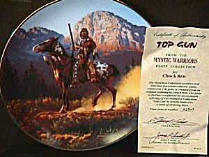 Top Gun Mystic Warrior Chuck Ren Indian brave rifle leopard spot Appaloosa horse (Image1)