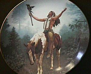 DELIVERANCE #1 MYSTIC WARRIOR SERIES Artist CHUCK REN Indian Brave & Horse 8 1/2 inch (Image1)