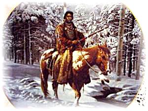 MAN WHO WALKS ALONE MYSTIC WARRIORS Art CHUCK REN INDIAN Brave Horse Native Americans (Image1)