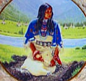 Falling Star Noble American Indian Women David Wright Native Plate Historical