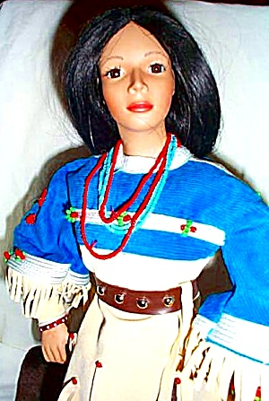 Noble American Indian Women Falling Star David Wright Native Doll Mib Historical 1997