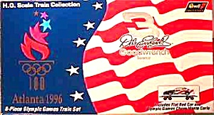 Dale EARNHARDT 1996 OLYMPICS Atlanta 6 PC. REVELL TRAIN SET #3114 Nascar 3 Goodwrench (Image1)