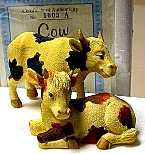 COWS COW - Noah's Noahs Endearing Mates Pair set - HTF - E. Elfie Harris Hamilton (Image1)