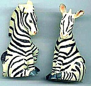 ZEBRAS Zebra - Noahs Noah's Endearing Mates Pair set - HTF artist Elfie Harris (Image1)