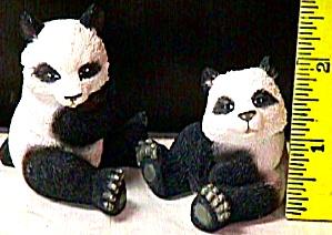 Noah Noah's Endearing PANDA BEAR Mates Pair by Artist Elfie Harris (Image1)