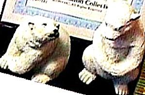 Noah's Endearing POLAR BEAR Mates Pair Artist Elfie Harris Hamilton Collection (Image1)