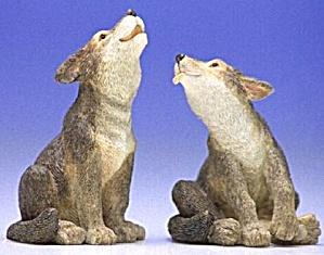 WOLF WOLVES - Noah's Noahs Endearing Mates Pair by Elfie Harris (Image1)