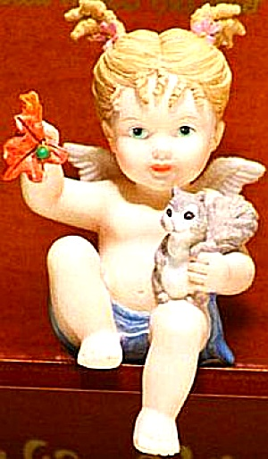 Natures Little Cherubs Cherub Of The Forest Angel Jacqueline Bardner Smith Squirrel