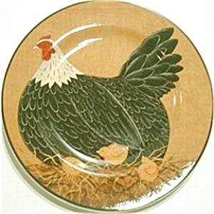 WARREN KIMBLE HENNY & PENNY YELLOW Sakura Casual Dining Oneida Stoneware Salad Hen CH (Image1)