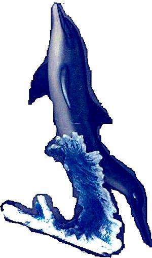 FREE SPIRIT OCEAN ODYSSEY COLLECTION Sculpture Artist WALT YOUNGSTROM Porpose Dolphin (Image1)