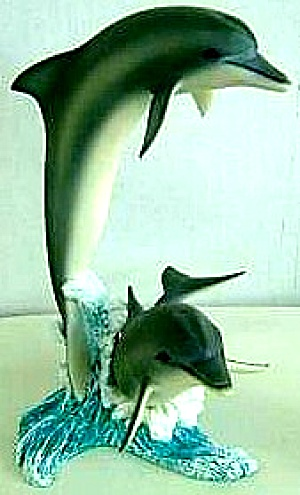 RIDING THE WAVES - OCEAN ODYSSEY COLLECTION Sculpture Artist WALT YOUNGSTROM Dolphin (Image1)