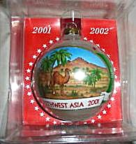 New Operation Santa 2001-2002 Southwest Asia Ornament Agc Saudi Arabia Bahrain Kuwait