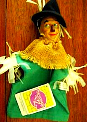 Wizard Of Oz Presents Hamilton Hand Puppet Scarecrow 1939 Mgm Turner Entertain #p3873