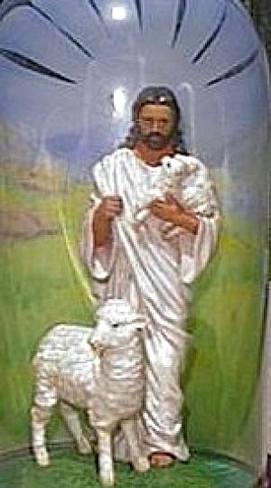 The Lord Is My Shepherd Portrayals of Christ Warner Sallman Glass Dome Hamilton Figur (Image1)